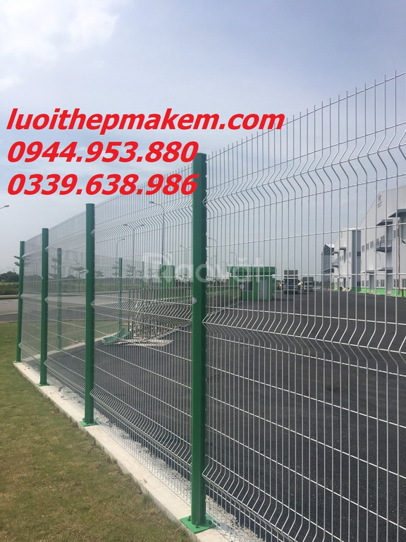 Hàng rào lưới thép, hàng rào chấn sóng, hàng rào gập đầu