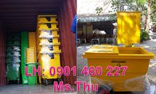 Xe đẩy rác nhựa công nghiệp 1000 lít,xe đẩy rác 660 lít nhựa HDPE