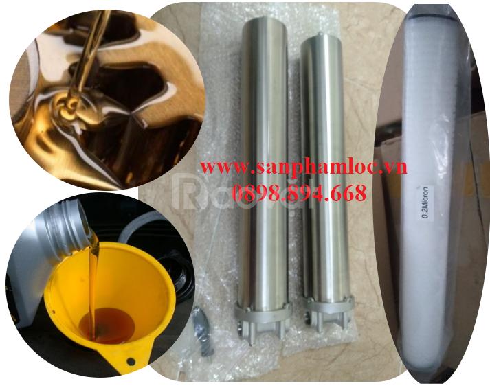 Cốc lọc inox 304 dày 0.8mm 20 inch lọc dầu công nghiệp