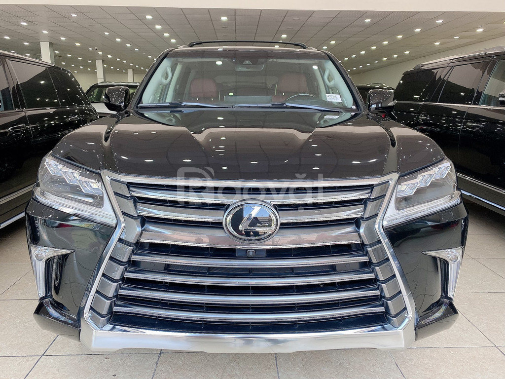 Bán Lexus LX570 nhập Mỹ, sản xuất 2019, màu đen, nội thất nâu, xe giao
