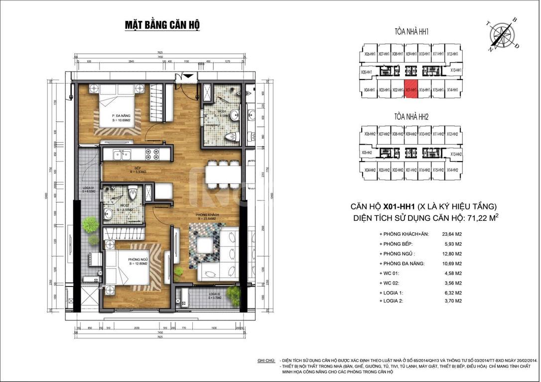 Bán suất ngoại giao căn hộ 71m2 dự án 90 Nguyễn Tuân giá chỉ từ 26tr/m