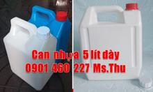 Vỏ can 5 lít nhựa HDPE, can nhựa 5 lít đựng hóa chất vuông, can 5 lít