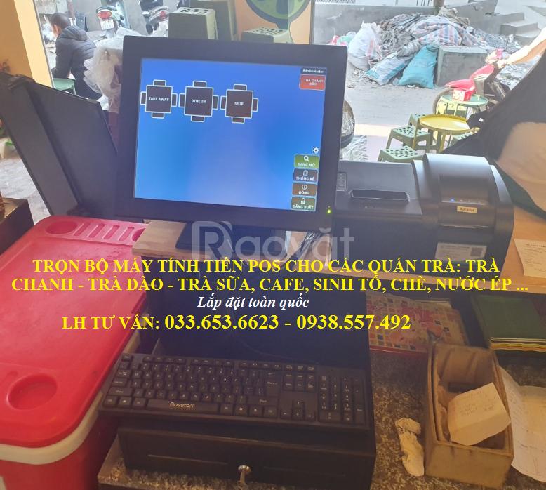 Bán full bộ máy tính tiền cho quán Trà Chanh tại Hà Nội