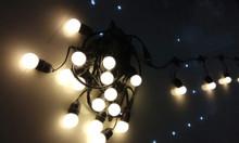Bộ dây đui đèn ngoài trời E27 kèm bóng - Đèn treo sân vườn