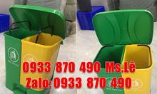 SX thùng đựng rác 2 ngăn tông 40 lít, thùng đựng rác 2 ngăn nhựa HDPE