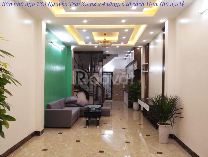 Bán nhà ngõ 133 Nguyễn Trãi 35m2 x 4 tầng, ô tô cách 10m