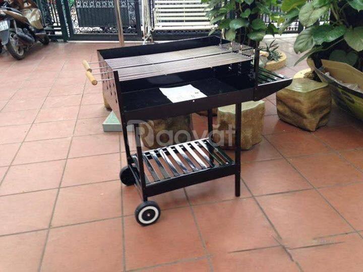 Bếp nướng than hoa CK350, bếp nướng dã  ngoại có bánh xe đẩy ck350