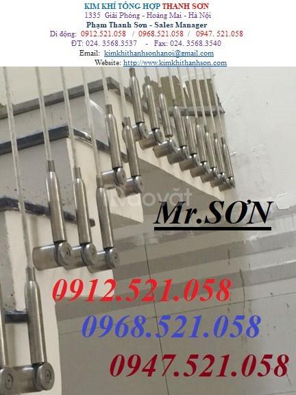 Cầu thang dây cáp cần: Tăng đơ ống inox,cáp inox 304,cáp thép bọc nhựa