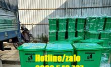 Thùng rác 20 lít xanh lá y tế, thùng rác y tế 20 lít xám đạp chân