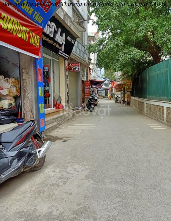 Bán nhà Nguyễn Trãi, Thượng Đình 36m2, ngõ ô tô, giá 3.48 tỷ