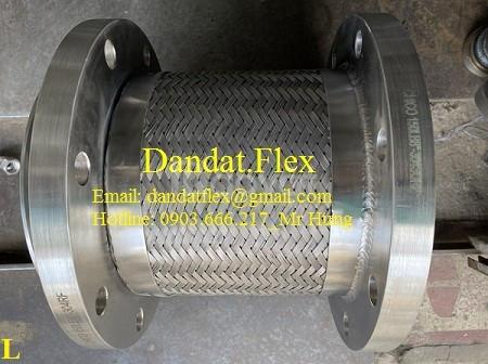 Chống rung inox cố định mặt bích sắt - khớp nối mềm FL-110 - Ống mềm