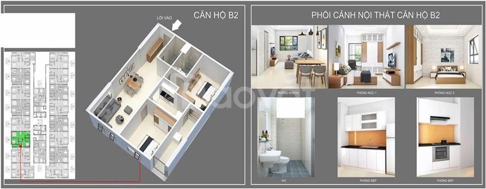 Chỉ từ 250 triệu nhận căn hộ 70m2 CHUNG CƯ IEC Tứ Hiệp, Thanh Trì