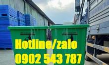 Thùng rác y tế 20l đạp chân màu xanh lá; thùng rác 20l xanh lá
