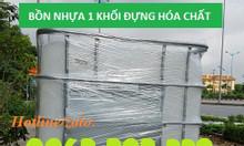 Bồn nhựa 1 khối đựng dầu, tank nhựa IBC 1000L