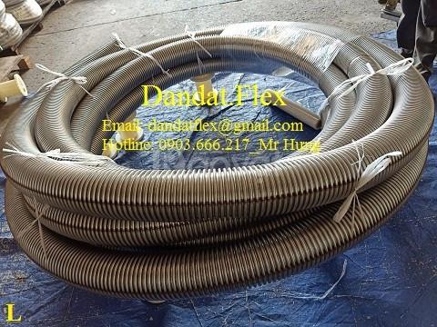 Ống nối mềm inox 304 - Ống mềm chịu nhiệt - Ống không lưới DN65