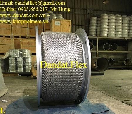 Ống nối mềm mặt bích, Ống mềm công nghiệp, Ống mềm inox chịu nhiệt cao
