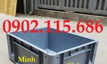 Thùng nhựa BL001, thùng nhựa có lỗ, thùng nhựa đựng hàng trong xưởng