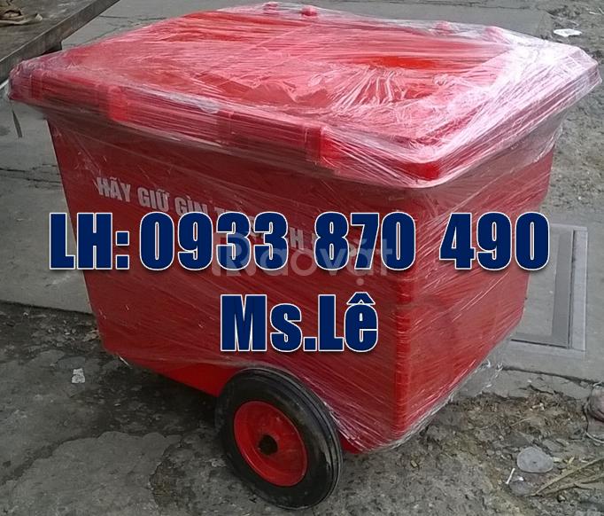 Thùng rác 660 lít màu đỏ 4 bánh xe,thùng rác 1000 lít 4 bánh xe vàng