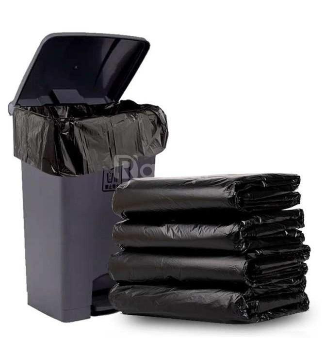 Bao rác đen bóng cực đại, túi rác size lớn, bao rác các loại An Giang