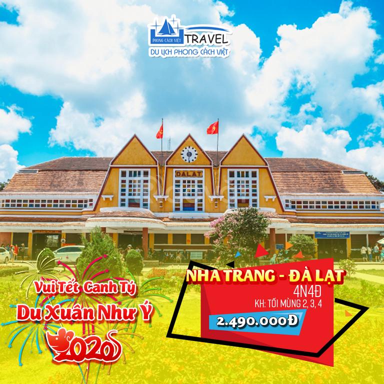 Tour du lịch Nha Trang – Đà Lạt 4N4Đ Tết Canh Tý 2020