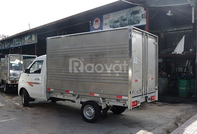 Bán xe tải nhỏ Dongben thùng kín 2m4 770kg- đời 219- hỗ trợ vay góp