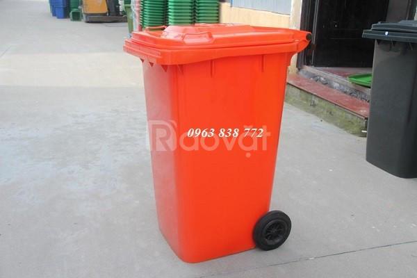 Thùng rác 240 lít nhựa hdpe màu đỏ chỉ bán tại Phước Đạt