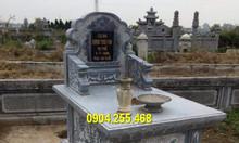 Mẫu mộ đá hậu bành đẹp chuẩn kích thước phong thủy