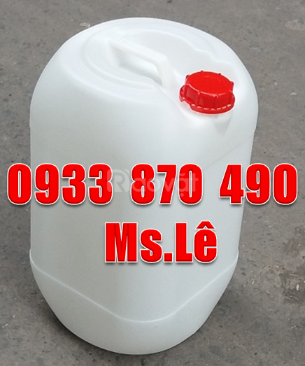 Can nhựa 25 lít, can nhựa HDPE 25 lít, vỏ can nhựa 25 lít đựng
