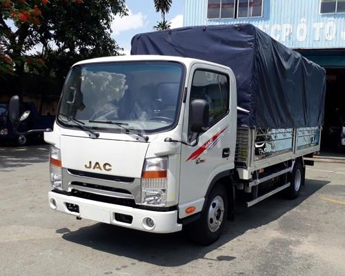 JAC 1t9 Cabin Vuông động cơ ISUZU thùng dài 4m4