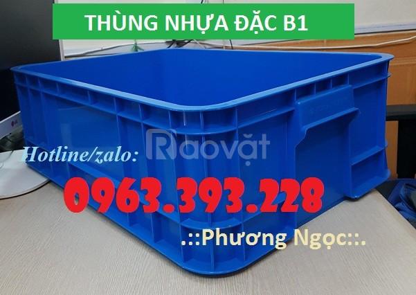 Thùng nhựa đặc B1, thùng nhựa cao 20, hộp nhựa cơ khí