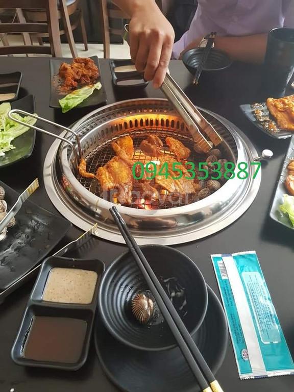 Bếp nướng than hoa không khói hút âm Hàn Quốc dùng quán nướng lẩu