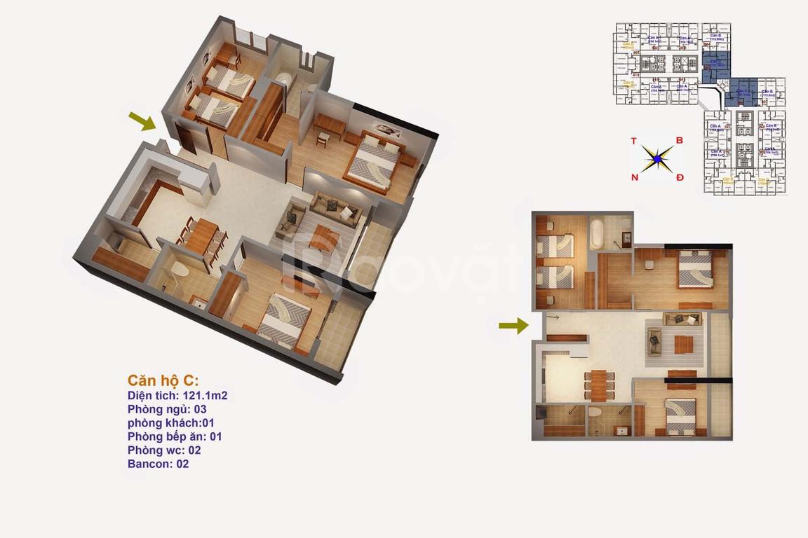 Căn hộ 3 ngủ tầng cao tòa Ruby 4, nhà nguyên bản, cần bán gấp