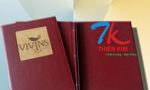 Cơ sở làm menu, menu bìa da, bìa da, bill folder, bìa đựng hồ sơ
