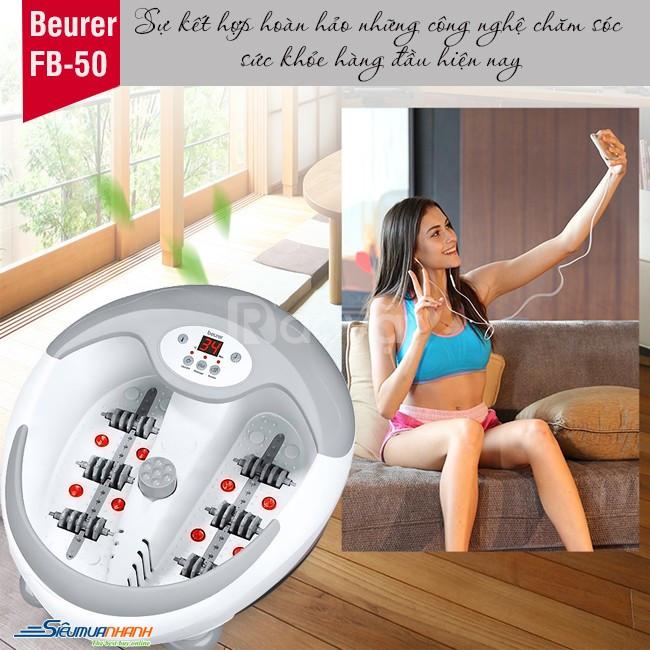 Bồn ngâm chân,massage hồng ngoại Beuer làm nóng nuớc FB50 xuất xứ Đức