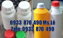 Chai đựng hóa chất 1 lít, vỏ chai nhựa 500ml đựng hóa chất