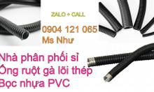 Chuyên ống ruột gà lõi thép bọc nhựa pvc, đại lý nhập khẩu giá sỉ