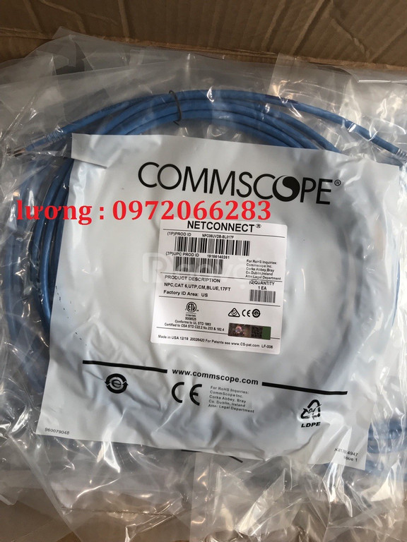 Dây nhảy Patch cord  Cat6 17 feet 5m