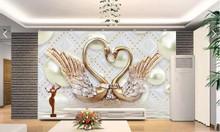 Tranh hoa 3d phòng khách- Gạch tranh ốp tường
