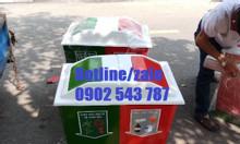 Thùng rác nhựa 2 ngăn 60l; thùng rác phân loại 2 ngăn composite