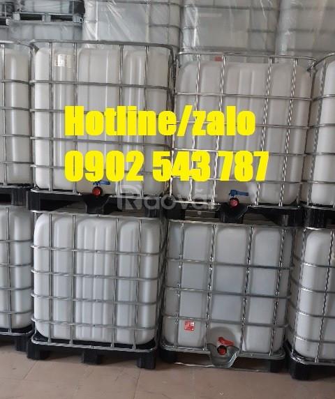 Tank nhựa 1000l cũ; bồn nhựa hóa chất 1000l có khung thép vuông