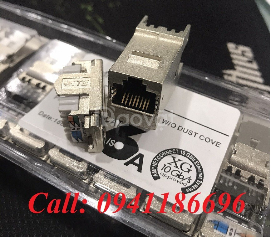 Ổ cắm mạng Commscope AMP XG Cat6A Modular Jack 1711342-2
