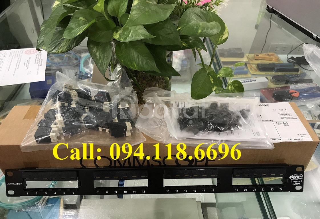 Thanh đấu nối Patch panel Cat6 24 cổng CommScope mã 1375014-2