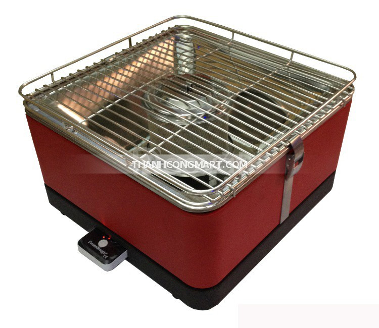 Bếp nướng than hoa không khói hộp vuông phù đổng PD17-D115,có sạc phin