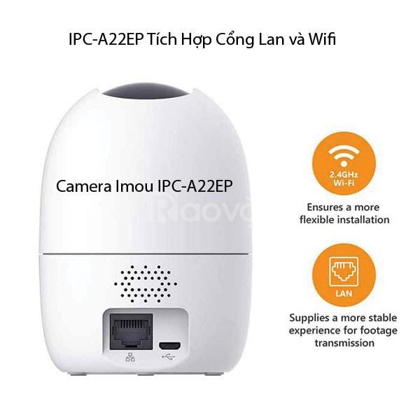 Camera wifi hỗ trợ thẻ nhớ 32GB. Miễn phí công lắp đặt camera
