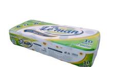Giấy vệ sinh cuộn nhỏ 3 lớp - giấy vệ sinh lụa cao cấp Leman Cần Thơ