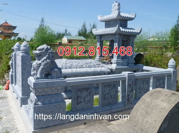 Mẫu nhà mồ đá - khu nhà mộ bằng đá xanh tự nhiên