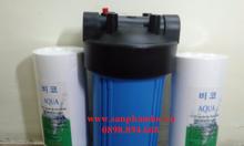 Cốc lọc nhựa màu xanh 10 inch loại bỏ cặn trong nước cấp sinh hoạt