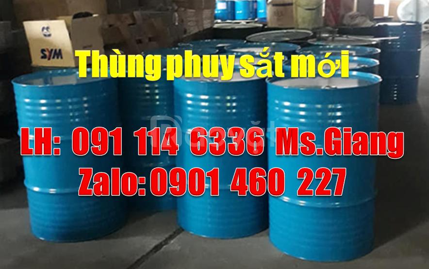 Lu nhựa 220 lít nắp hở, thùng phuy sắt 220 lít cũ giá bao nhiêu