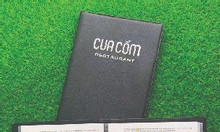 Xưởng sản xuất bìa menu nhà hàng, đặt làm bìa menu da giá rẻ tại TPHCM