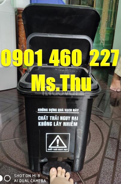 Thùng rác y tế dung tích 20 lít, thùng đựng rác tái chế 15 lít y tế